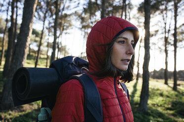 Spain, Catalunya, Girona, female hiker in the nature - EBSF001160