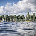 Germany, Hamburg, Aussenalster, Outer Alster Lake, harbour, sailing boats, water surface - KRPF001679