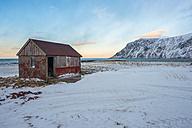 Norway, Lofoten, Abandoned red cabin - LOMF000133