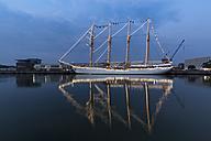 Germany, Bremerhaven, sailing ship at the Sail 2015 - SJ000160
