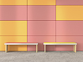 Two benches at waiting area, 3D Rendering - UWF000710
