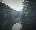 Germany, Wuppertal, Wupper river and forest - DWI000669