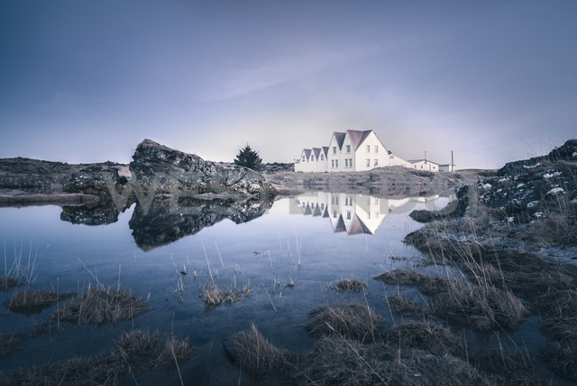 Iceland, Sudurland, Straumur, residential houses - STCF000104