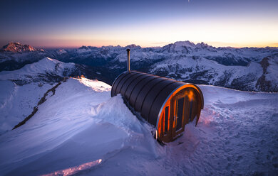 Italy, South Tyrol, Dolomites, sauna at Lagazuoi - STCF000116