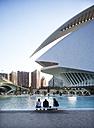 Spain, Valencia, Ciudad de las Artes y de las Ciencias, view to Palau de les Arts Reina Sofia - WW003876