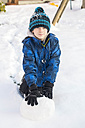 Portrait of boy in snow - SARF002424