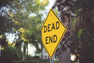 USA, Florida, Captiva Island, dead end sign - CHPF000171