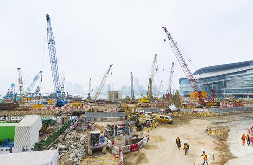 China, Hong Kong, Construction site in Central Hong Kong - HSI000390
