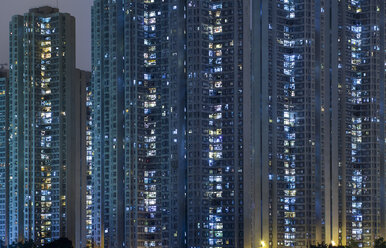 China, Hong Kong, Kowloon apartement buildings - HSIF000408