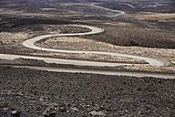Spain, Canary Islands, Fuerteventura, winding road - FMKF002233
