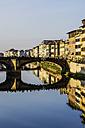 Italy, Tuscany, Florence, Arno River and Ponte Santa Trinita - THAF001551