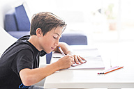 Boy doing homework - SIPF000036