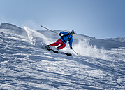 France, Les Contamines, ski mountaineering, downhill - ALRF000308