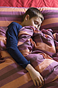 Boy sleeping in bed - SKCF000045