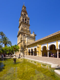 Spain, Andakusia, Cordoba, Bell tower and cloister of the Mezquita-Catedral - AM004677