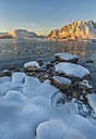 Norway, Lofoten Islands, Sunset on a fjord - LOMF000180