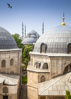Turkey, Istanbul, view to Haghia Sophia and Sultan Ahmed Mosque - MDIF000021