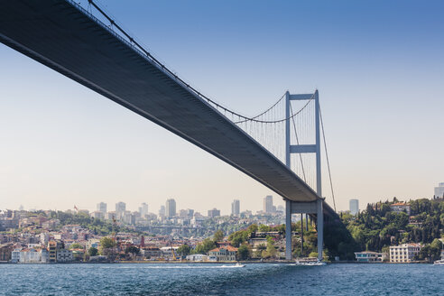Turkey, Istanbul, view to Bosphorus Bridge - MDIF000027