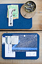 DIY mood board made from cork mats with ticket, screws and nails - GISF000196