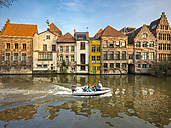 Belgium, Flanders, Ghent, Guild houses on Leie river - AM004688