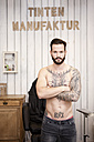 Portrait of man with tattooed upper body - MFRF000480