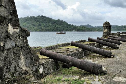 Panama, Portobelo, Bateria de Santiago, canons - STEF000159