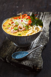 Bowl of Asian curry cocos soup 'Laksa' - SBDF002676