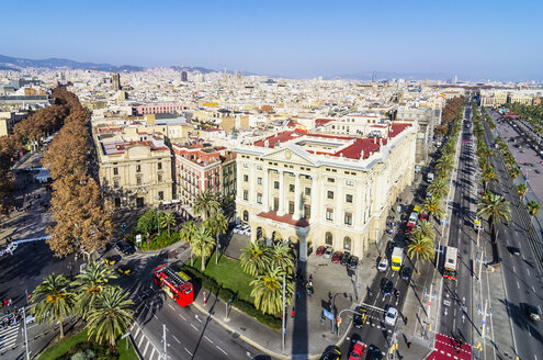 Spain, Barcelona, cityscape as seen from Columbus column - THAF001567