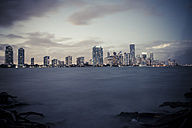USA, Miami, view from Key Biscayne to the skyline of Miami - CHPF000211