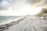 USA, Miami, view to beach of Key Biscayne on a stormy day - CHPF000217