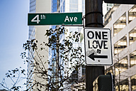USA, Washington, Seattle, One Love Sign - NGF000252