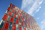 Germany, Duesseldorf, modern office building, red facade - GUFF000258