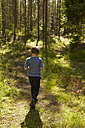 Sweden, back view of boy walkinh into the woods - TSFF000009