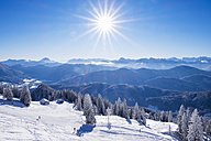 Germany, Upper Bavaria, Lenggries, ski area at Brauneck - SIEF006944