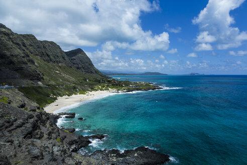 USA, Hawaii, Oahu, Honolulu, View from Makapuu Point Lighthouse - NGF000295