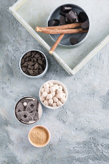Bowls of liquorice roots and different licorice products - MYF001341