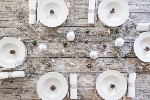 Laid table at Christmas time - LVF004522