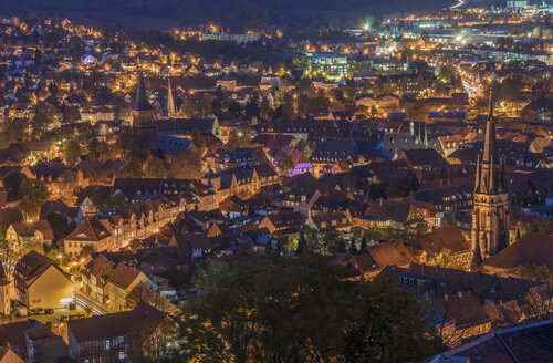 Germany, Wernigerode, cityscape in the evening - PVCF000764