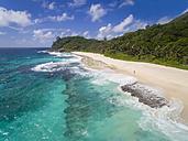 Seychelles, Indian Ocean, Mahe Island, Anse Bazarca, beach - FOF008453