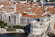 Croatia, Dalmatia, Dubrovnik, Old Town, medieval city wall fortification - ABOF000081