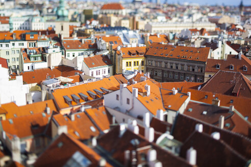 Czech Republic, Buildings in the city center of Prague, tilt-shifted - GIOF000758