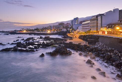 Spain, Canary Islands, Tenerife, Puerto de la Cruz in the morning - RJF000566