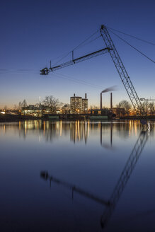 Germany, Wolfsburg, Autostadt in the evening - PVCF000782