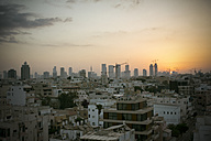 Israel, Tel Aviv, cityscape at sunset - REAF000075