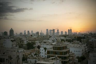 Israel, Tel Aviv, cityscape at sunset - REAF000075