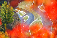 Spain, Sepulveda, view to Duraton River at Hoces del Rio Duraton Natural Park in autumn - DSGF000950