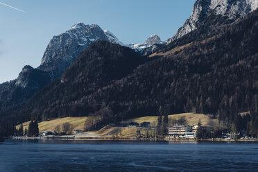 Germany, Bavaria, Berchtesgadener Land, Ramsau, Lake Hintersee - MJF001750