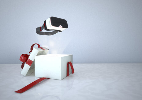 Virtual Reality Glasses and opened gift box - ALF000679