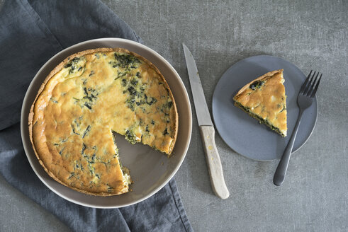 Low carb spinach quiche - ECF001846