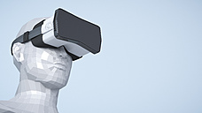 Dummy with Virtual Reality Glasses, 3D Rendering - UWF000779